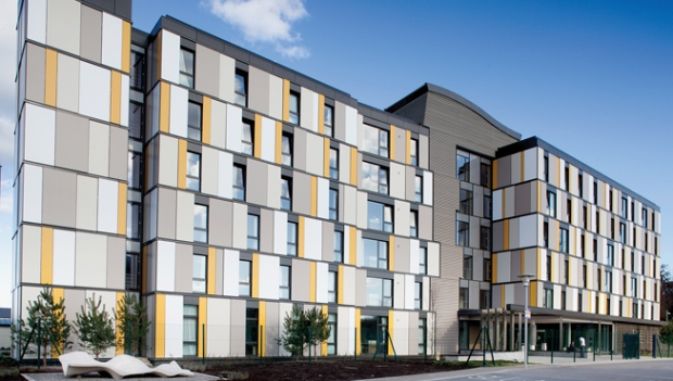 Roebuck Student Hall (UCD, Dublin), largest Passive House building in Ireland. Source: Kavanagh Tuite Architects.