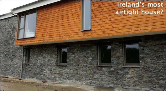 Tim O'Donovan's low-energy house in Timoleague, West Cork. Advised by XD Consulting on super-efficient envelope and building services.